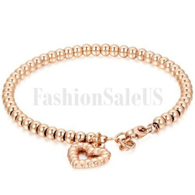 cc646a1105c3 Rose Gold(hollow Heart) - Tono Oro Y Plata Acero Inoxid-4632