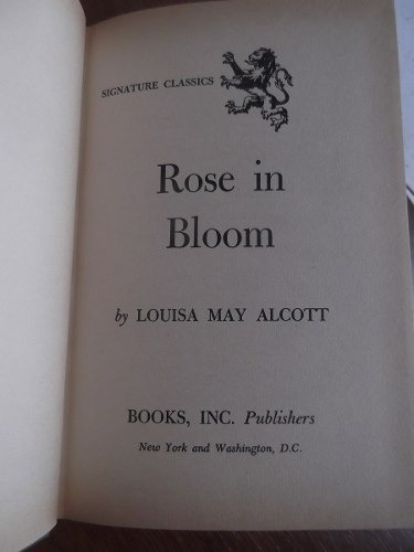 rose in bloom louise may alcott tapa dura en ingles original