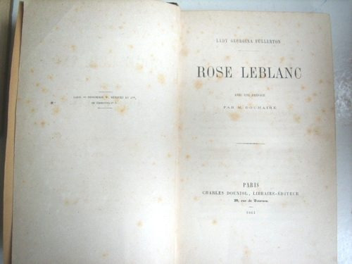 rose leblanc de lady georgina fullerton