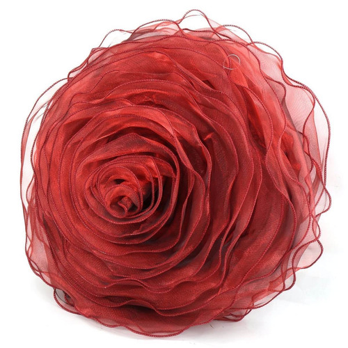 rose rizó decorativo cojín forma de la flor de la gasa sofá