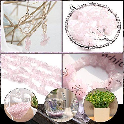 rose stones cristales gravel quartz tumbled stone pink pebbl