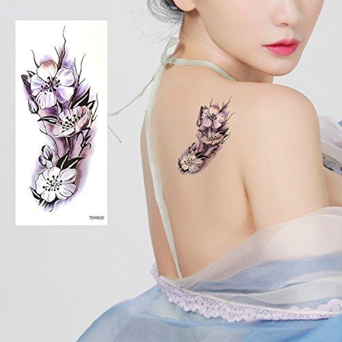 Rosenice Tatuaje Temporal 9 Hojas Mariposa Flores Cerezo Sum