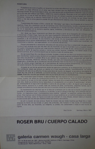 roser bru cuerpo calado 1987  waugh zurita