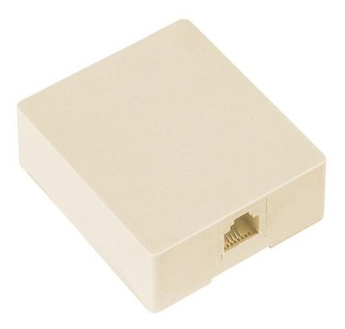 roseta caja telefonica 1 entrada rj-11 50 piezas