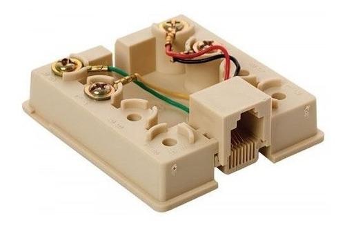 roseta telefónica con jack rj11 de 4 contactos | 300-145