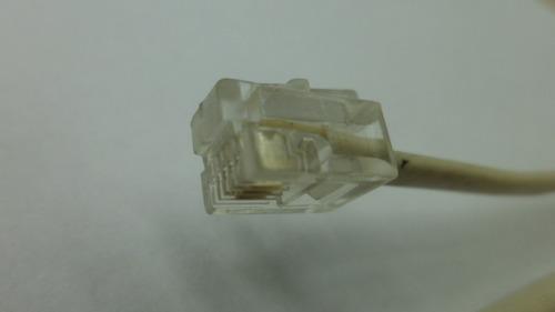 roseta telefonica grande 1 rj11 beige 2 lineas (usado) e1574