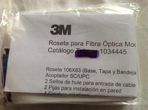 rosetas fibra optica instalaciones 3m no tyco telmex ftth