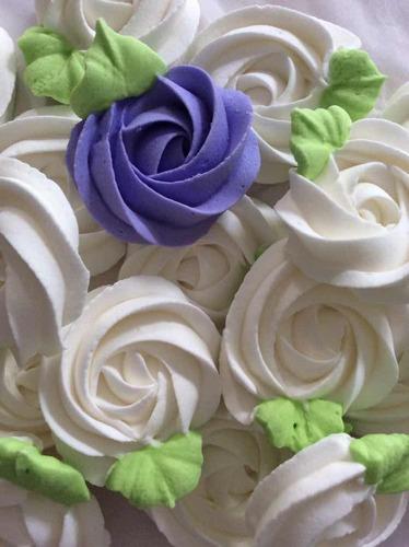 rosetones de azúcar, para decorar trabajos de repostería