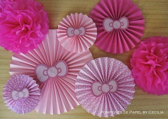 Rosetones Flores Y Rosas De Papel Decoraciones Cumpleanos Bs 0