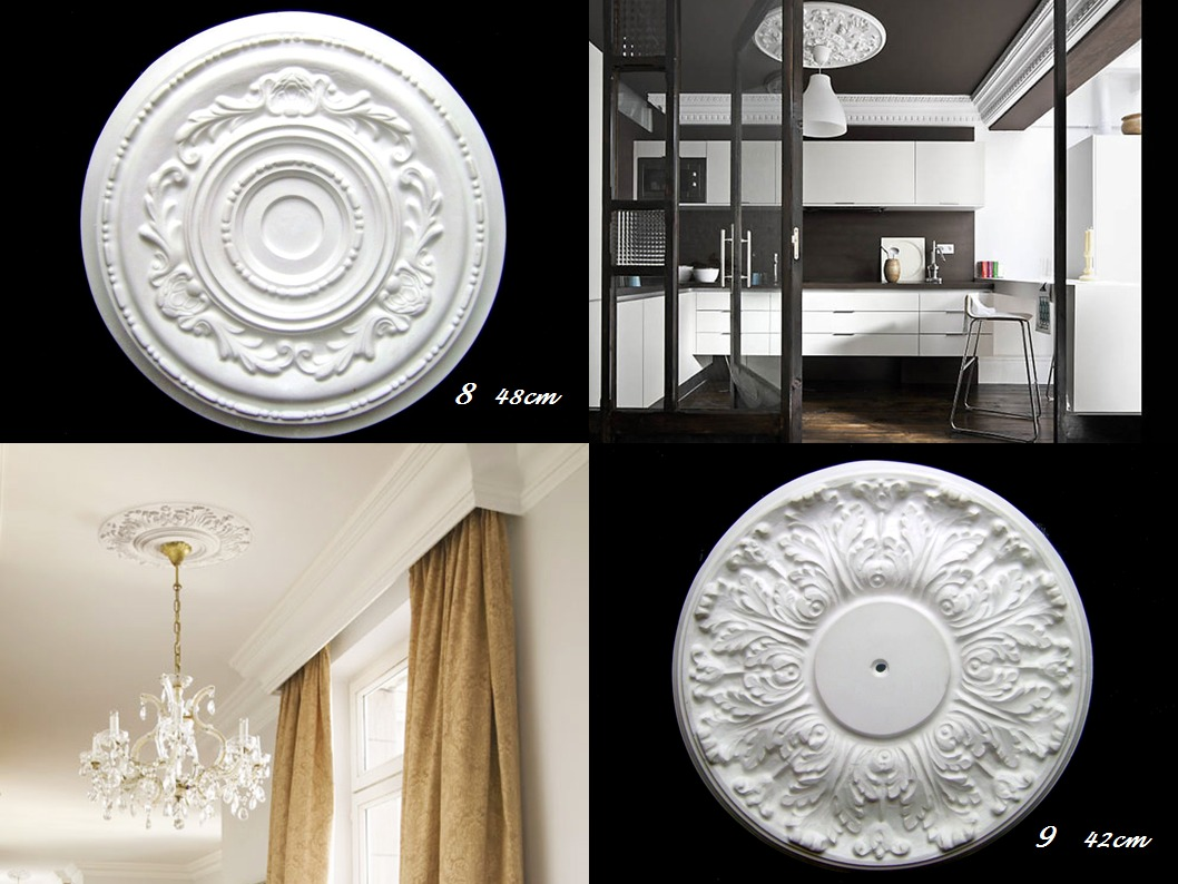 Rosetones o apliques plafon para lamparas de techo - Lamparas de plafon ...