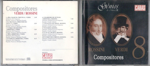 rossini+verdi cd genios da musica ii otimo estado