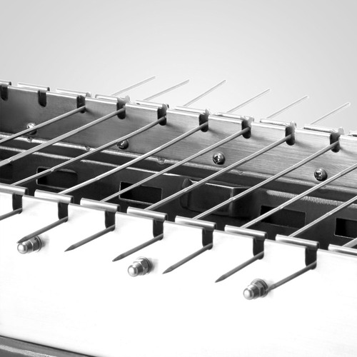 rostizador automático con 14 brochetas de acero inoxidable