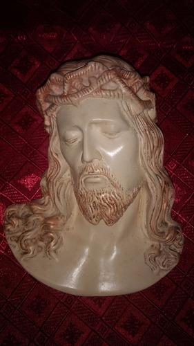 rostro cabeza cristo jesus pintado para colgar regalar yeso