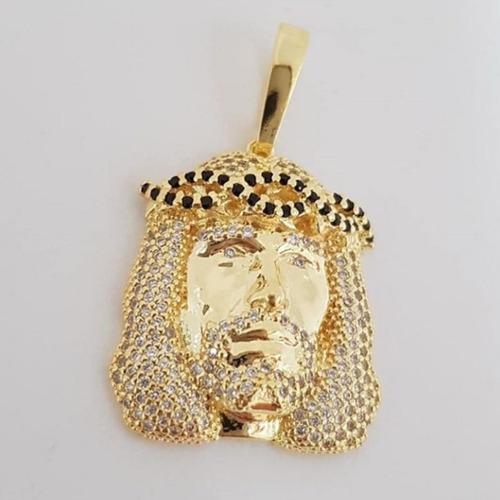rostro de cristo en oro laminado de 18k