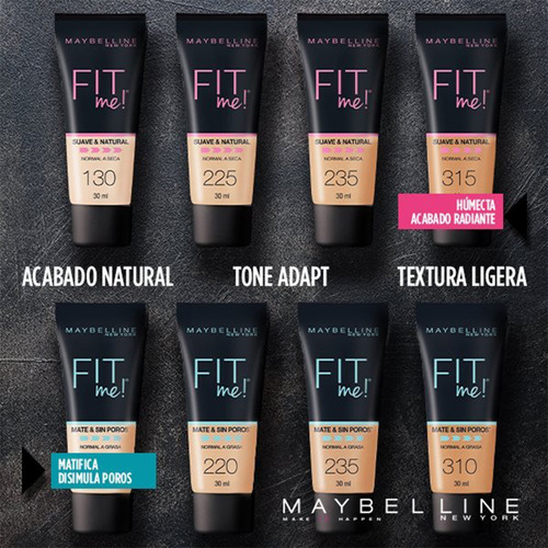 rostro maybelline base maquillaje