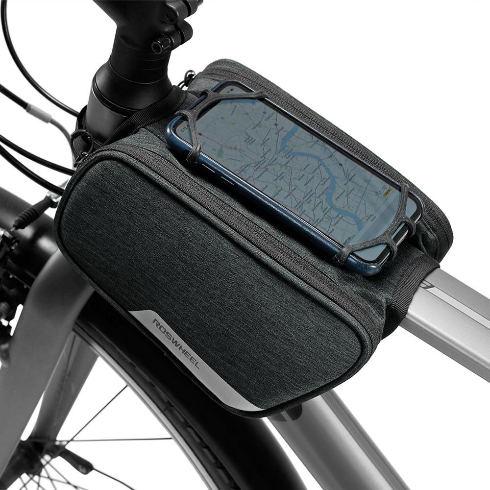 20b1315f5df roswheel bicicleta tubo pannier bicicleta marco bolsa titula. Cargando zoom.