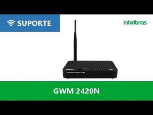 roteador adsl 2+ wireless n150 mbps intelbras preto 4 portas