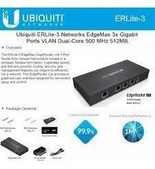 roteador edge router erlite-3 ubiquiti