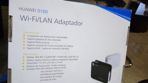 roteador huawei d100 - wifi / lan 3g usb