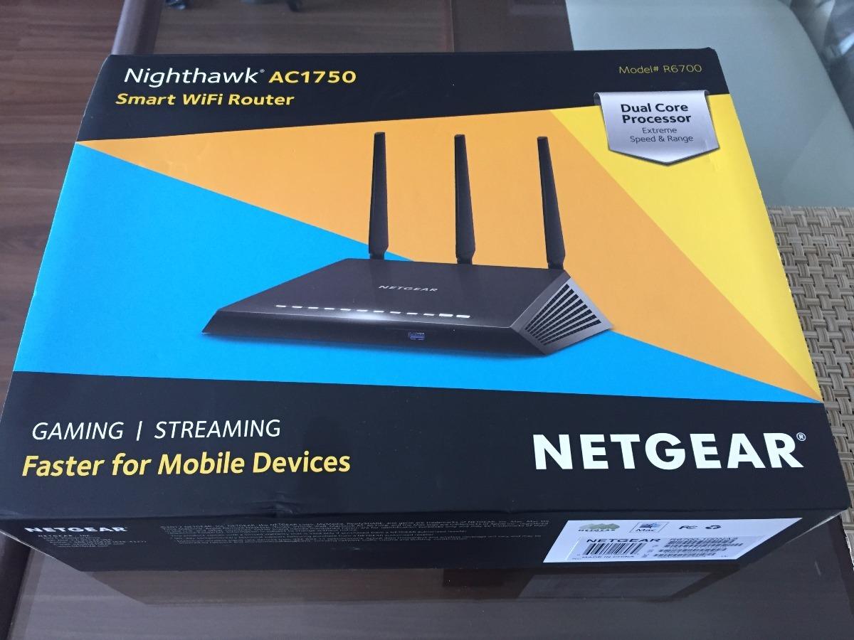 Roteador Netgear Nighthawk Ac1750 Smart Dual Band (r6700)
