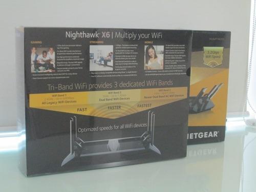Roteador Netgear Nighthawk X6 R8000 Ac3200 - Lacrado