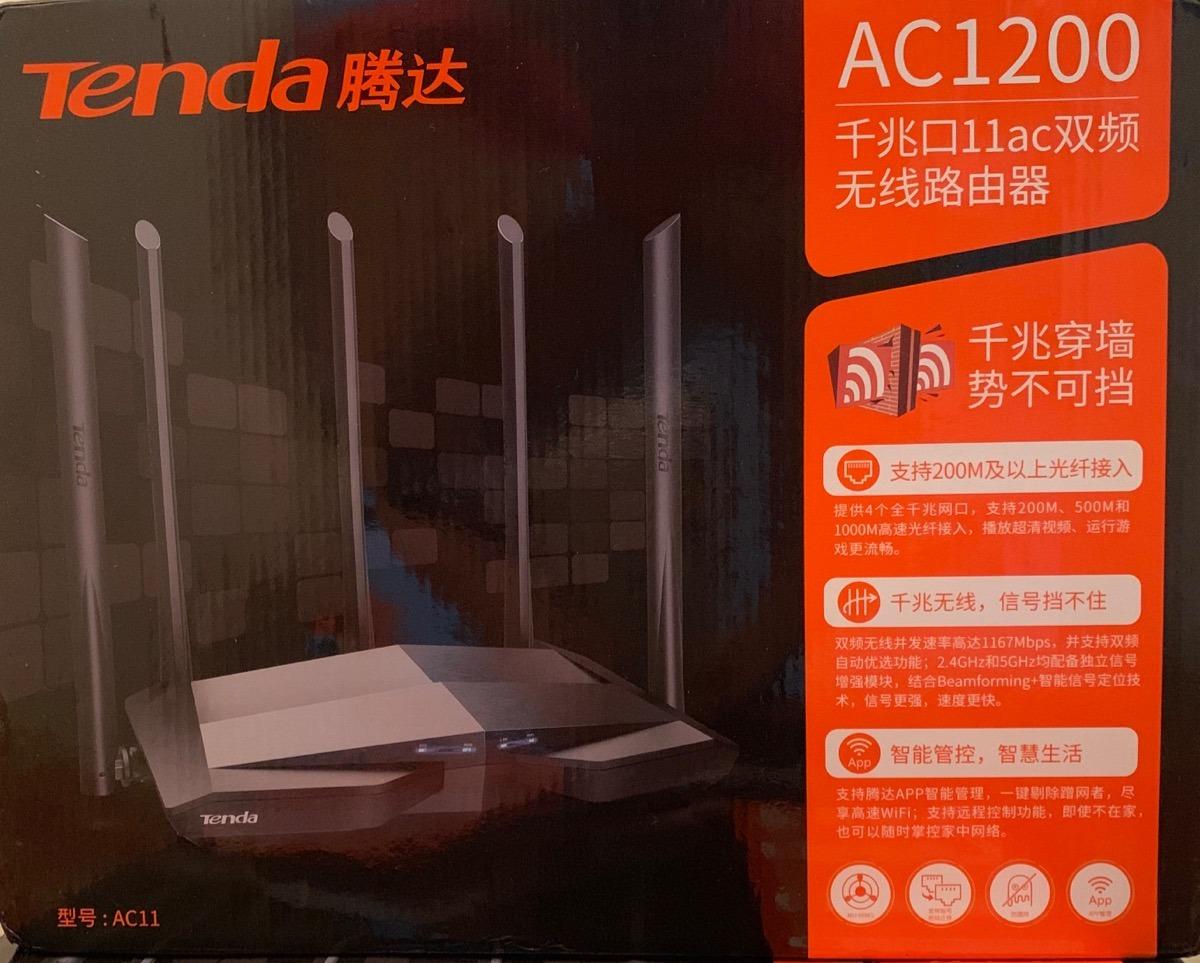 Roteador Tenda Ac11 Gigabit Fonte Bivolt Melhor Ac6 Ac7 Ac10