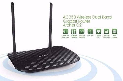 roteador tp-link archer c2 router ac750 802.11ac