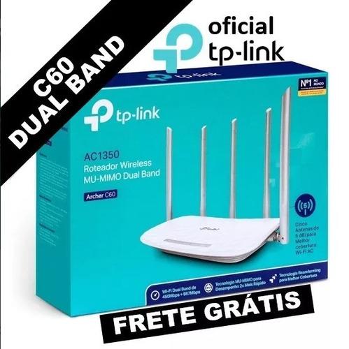 roteador tp-link archer c60 dual band ac1350 v2 frete gratis