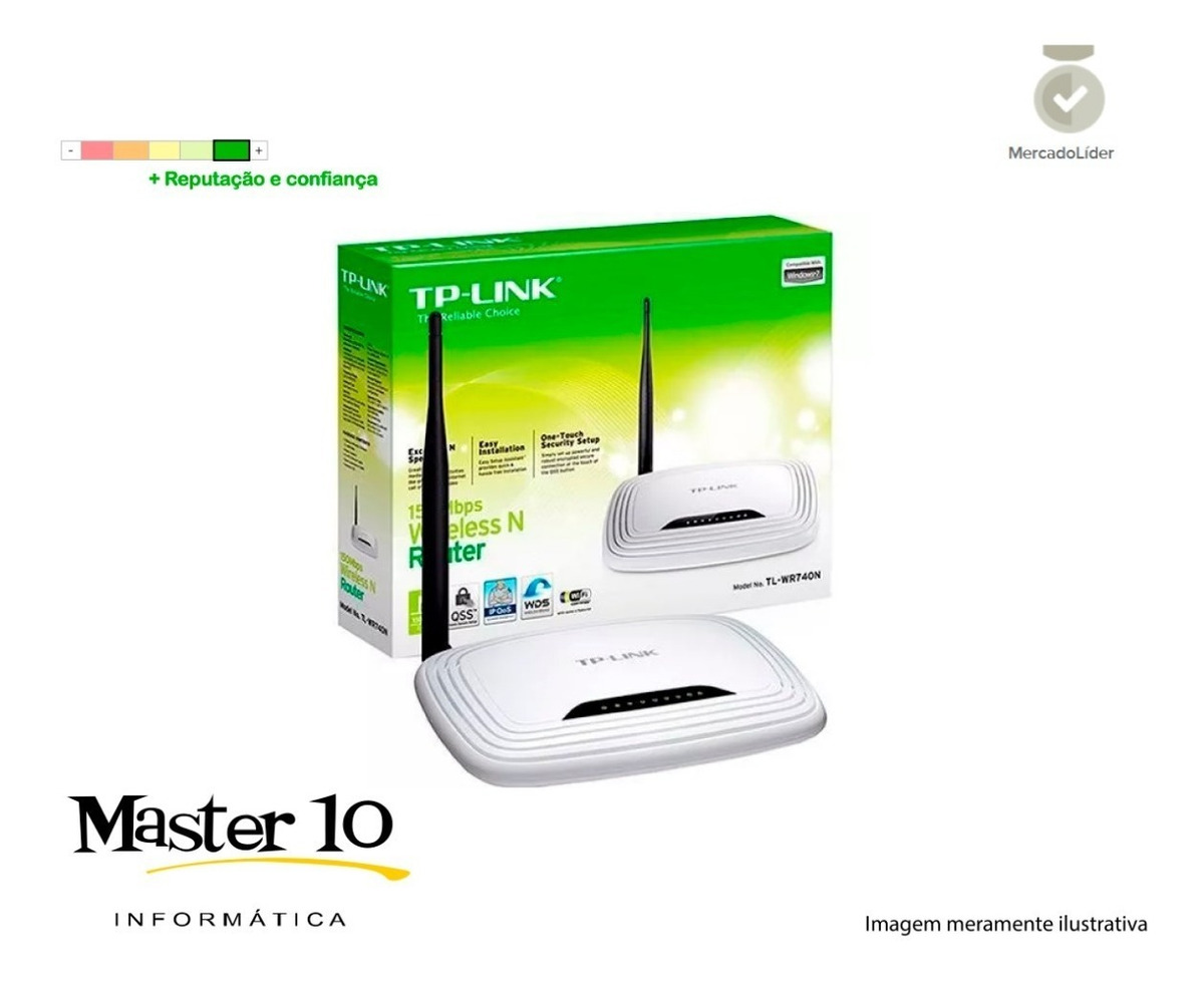 Roteador Tp-link Wireless N 150mbps Tl-wr740n