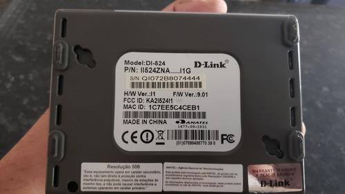 roteador wi-fi 150 router d-link di-524 usado