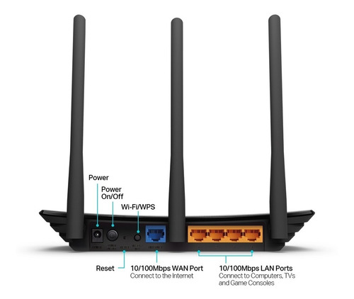 roteador wireless 3 antenas 450mbps tl-w940n tp-link