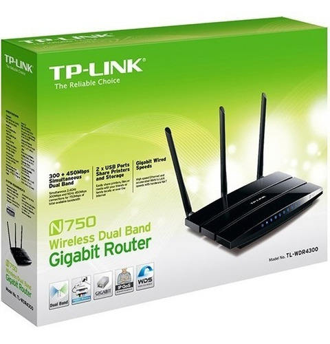 roteador wireless gigabit dual band n750 750mbps tl-wdr4300