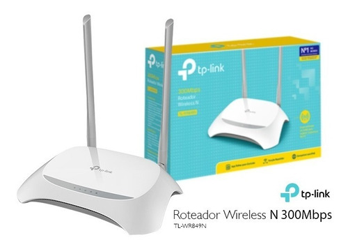 roteador wireless tp-link tl-wr849n 300mbps 2 antenas fixas