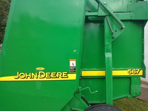 rotoenfardadora john deere 567 con solo 30000 rollos de uso.