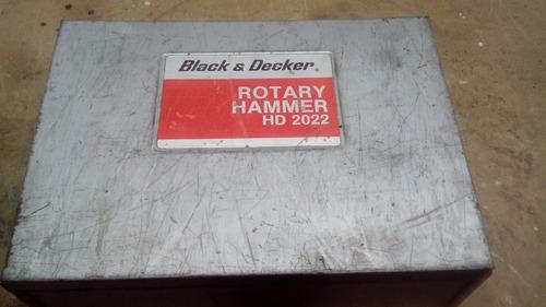 rotomartillo black&decker hd2022 22mm+accesorios made in usa