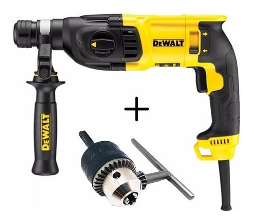 rotomartillo dewalt d25133 k sds plus 800w +mandril +adaptad