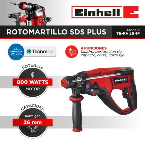 rotomartillo einhell sds plus 4 funciones te-rh 26 930 rpm