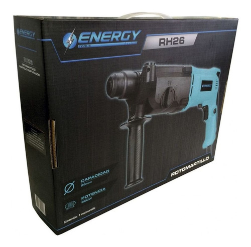 rotomartillo sds plus energy rh26 800w 3.5 joules + punta!!