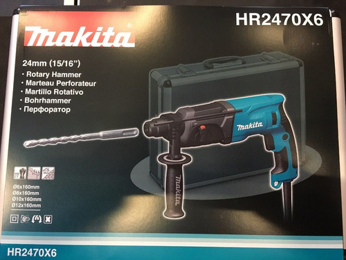 rotopercutor makita hr2470x6 780w+maletin aluminio