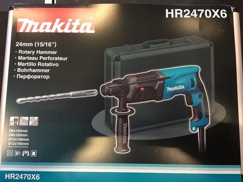 rotopercutor makita hr2470x6 780w+maletin aluminio sin inter