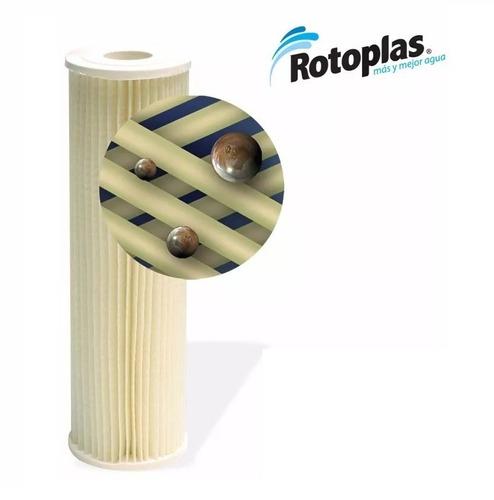 rotoplas cartucho filtro tanque agua partículas sedimentos