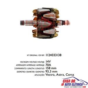rotor alternador sistema bosch amperes astra 1997 2012
