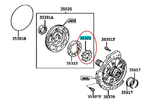 rotor bomba aceite  toyota camry 2002-2004