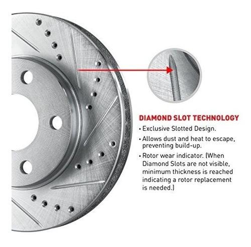 rotores de frenos ranurados delanteros y traseros ranurados