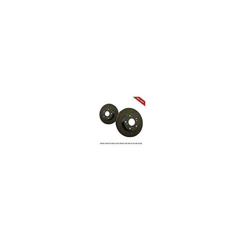 (rotores delanteros) 2 heavy duty negro zinc plateado frenos