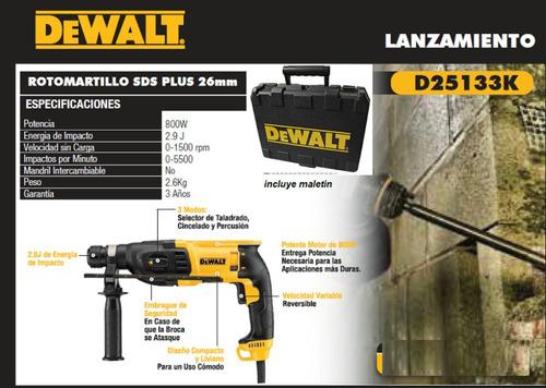 rotormartillo dewalt d25133k nuevo