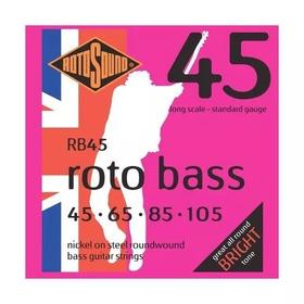Rotosound Rb45 Encordado P/ Bajo 4 Cuerdas Nickel 45/105