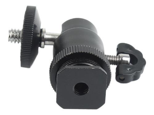 rotula giratoria soporte adaptador para tripie 360° metálica