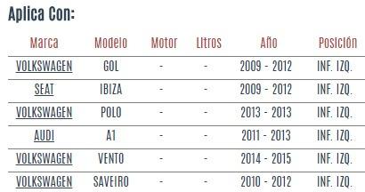 rotula inferior izquierda seat ibiza 2009 - 2012 vzl