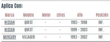 rotula inferior nissan quest 1993 - 2003 vzl